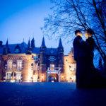 Avondfotografie kasteel maurick vught bruiloft huwelijk trouwdag