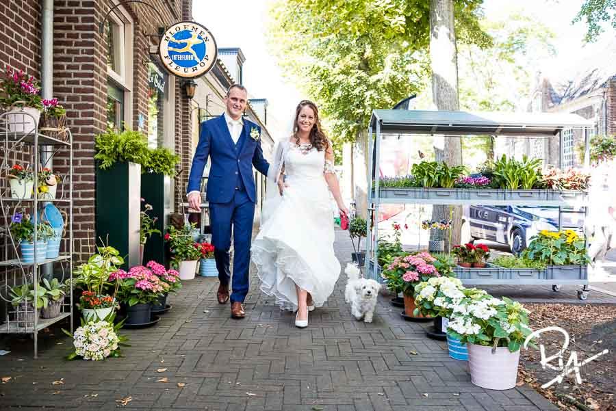 bloemen bruidsfotograaf son breugel bruidspaar