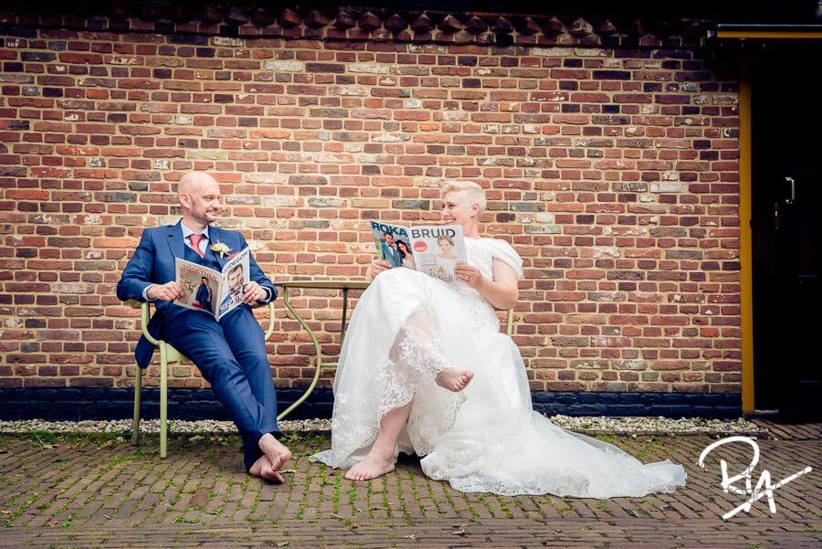 getrouwd-bruidspaar ontspannen relaxed fotograaf veldhoven