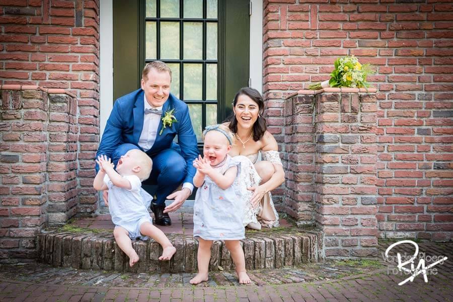 Bruidskinderen bruidspaar fotograaf Eindhoven huwelijk