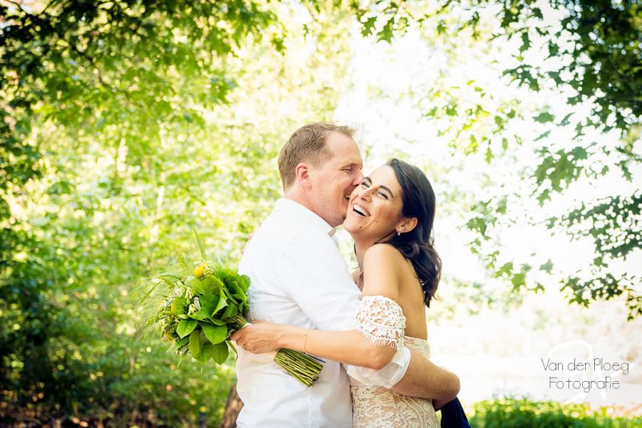 Bruidsreportage Waalre bruidsfotograaf bruidspaar Meertjesven