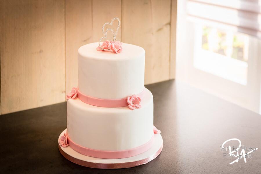 Bruidstaart gebak foto sfeer huwelijk