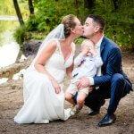 Fotografie huwelijk fotosessie water natuur Malpie
