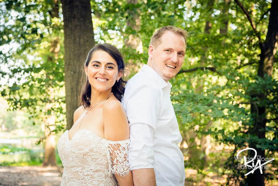 Pas getrouwd stel fotosessie bruidspaar fotograaf Valkenswaard