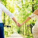 fotograaf Waalre trouwen op de fiets bruidspaar