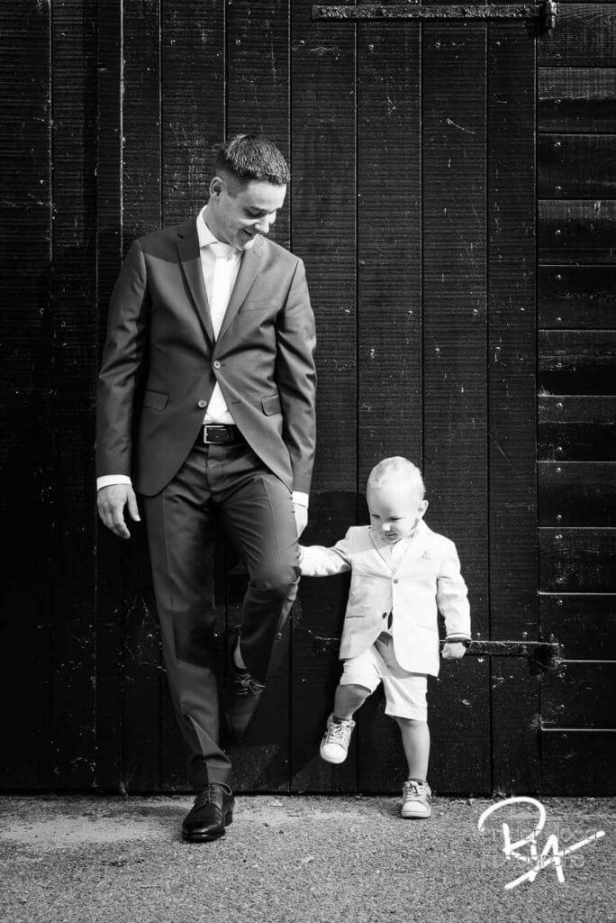 sfeerbeeld huwelijk Malpie vader zoon bruidsfotograaf Waalre