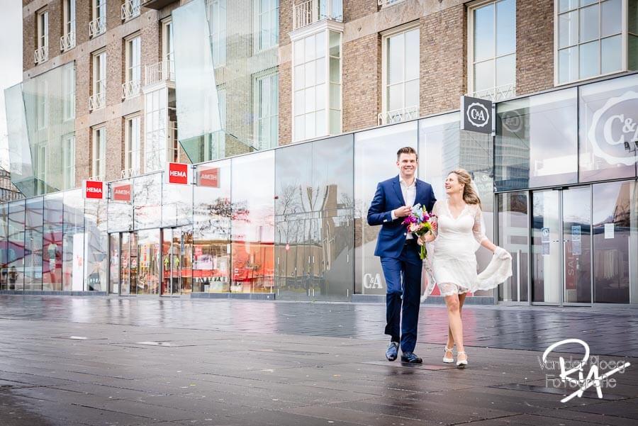 Bruidsfotografie centrum Eindhoven fotograaf huwelijk Waalre