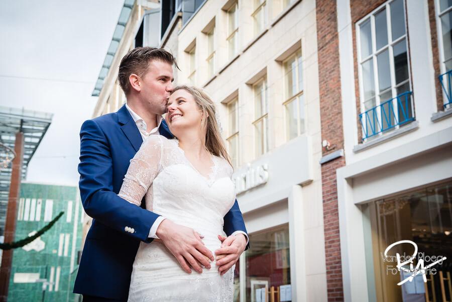 Bruidsfotografie centrum Eindhoven trouwfotograaf Waalre