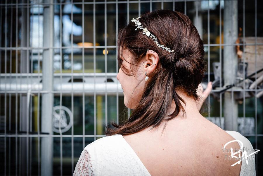 Fotografie haar bruid steigerwerk fotograaf Eindhoven