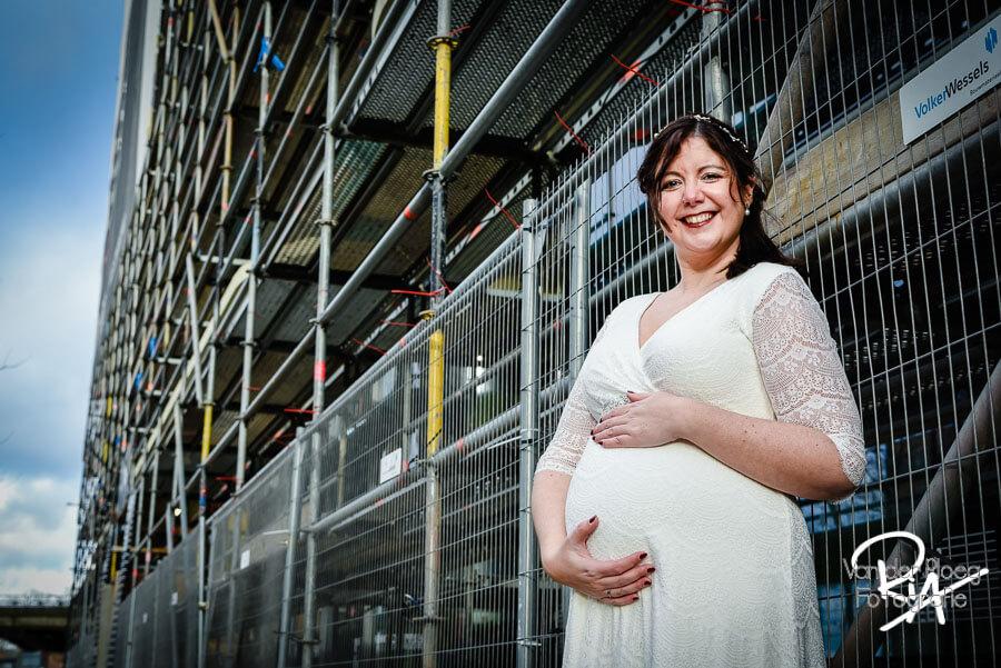 Fotografie zwangere bruid steigerwerk Eindhoven