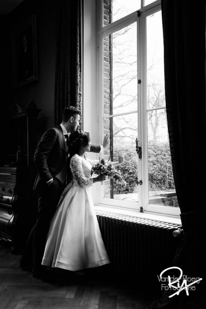 Bruidsfotografie Kasteel Geldrop fotografie zwart wit