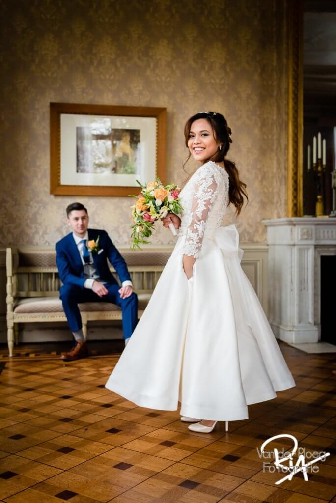 Kasteel-Geldrop bruidsfotografie fotograaf bruid bruidegom