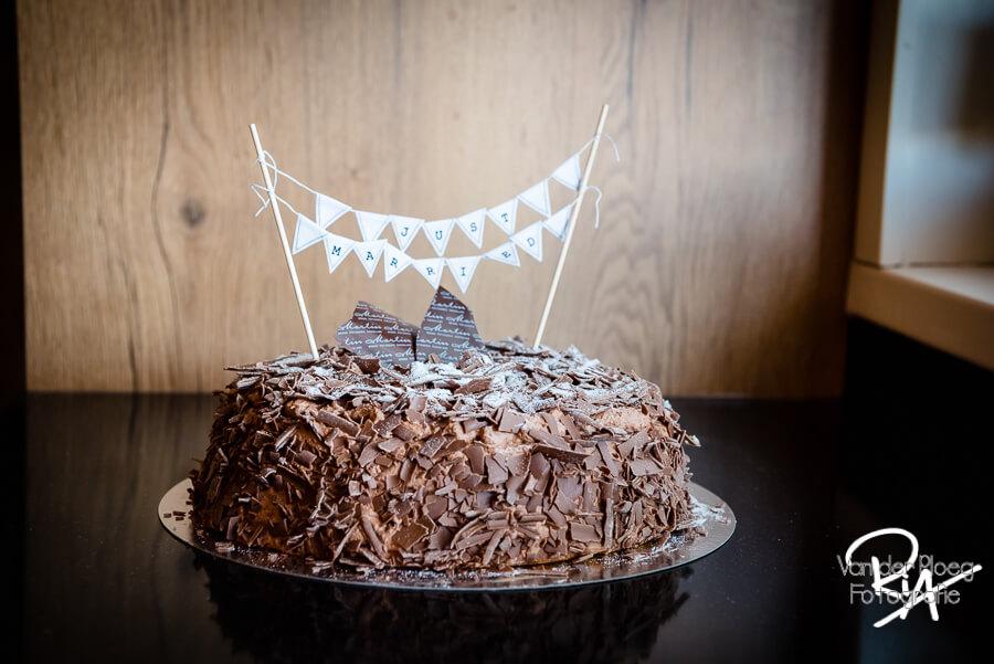 Bruidstaart chocolade bruidsfotograaf Ria Ploeg Waalre