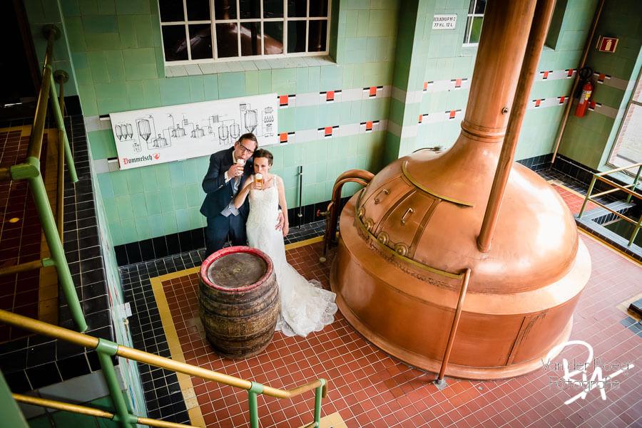Bierbrouwerij Dommelen fotograaf huwelijk