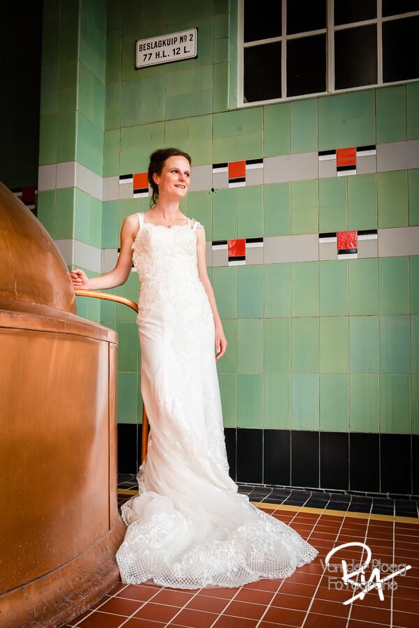 Foto bruid fotograaf brouwerij Dommelen