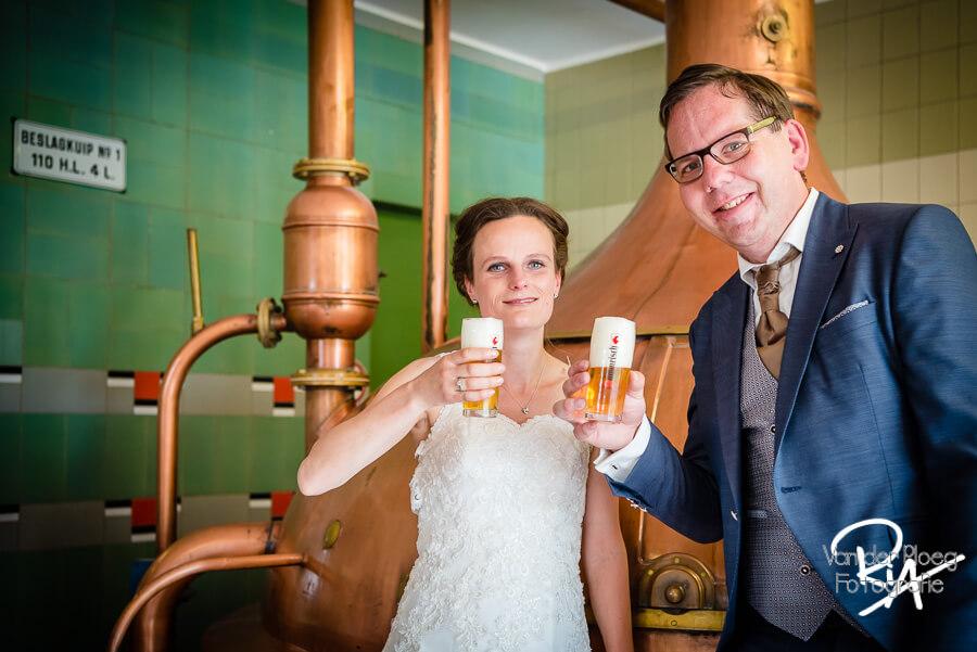 Fotografie bruidspaar Dommelsch bier Valkenswaard