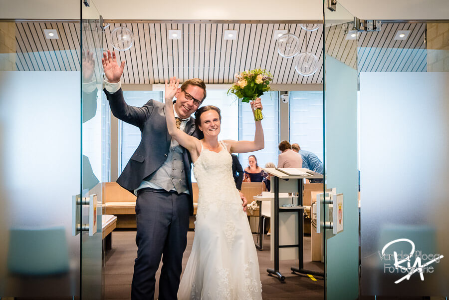 Net getrouwd bruidspaar fotograaf Eersel