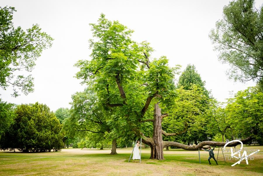 Boom park Vught bruidspaar bruidsfotografie