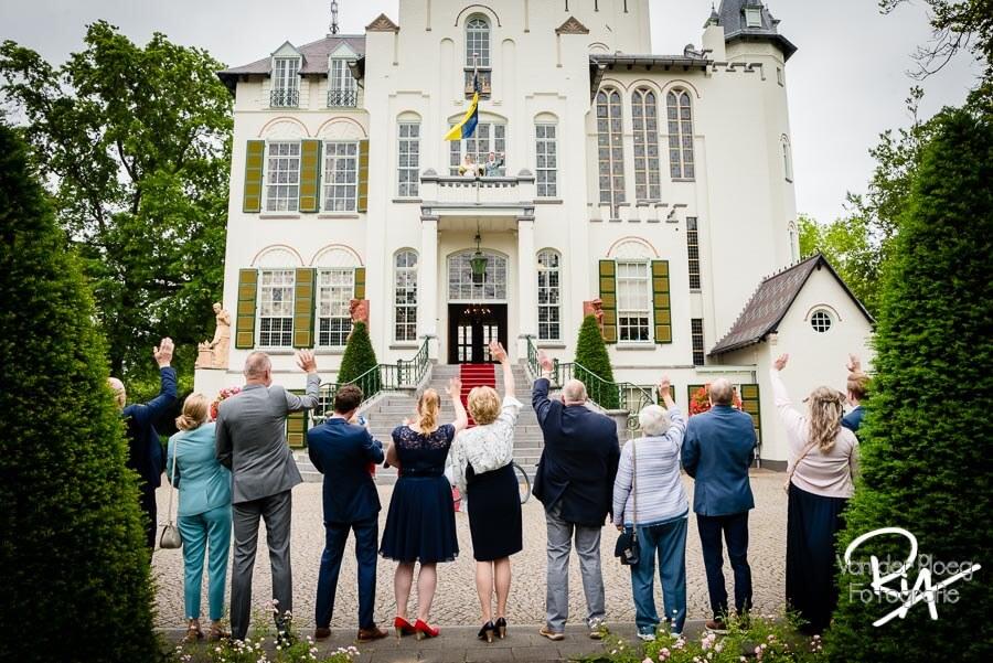 Fotograaf huwelijk Vught balkon raadhuis