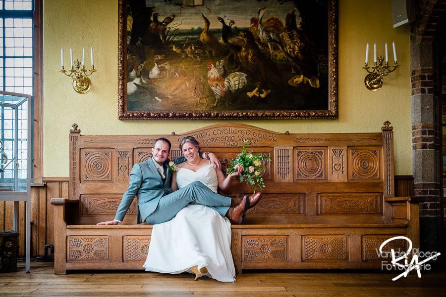 Fotograaf huwelijk bruidspaar Vught raadhuis