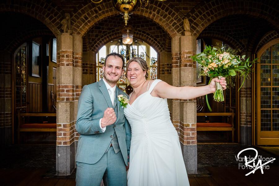 Pas getrouwd bruidspaar fotograaf oirschot
